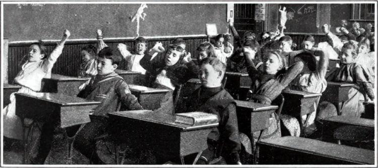 Vintage school classrooms in 1899 (2)