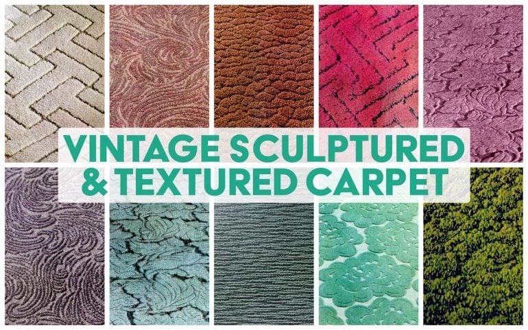 Vintage sculptured and textured carpet