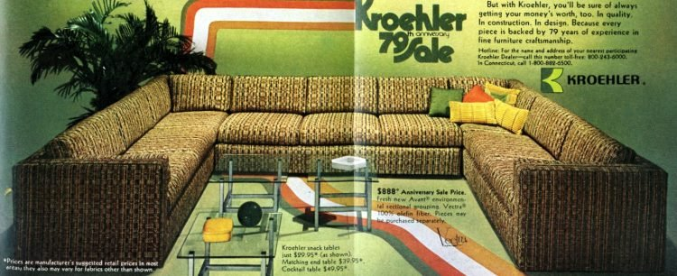 Vintage sectional couch from 1972