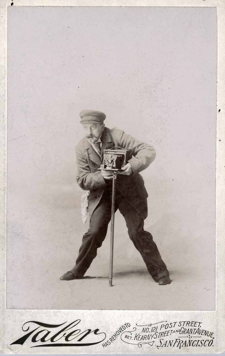 Vintage selfie by San Francisco photographer Isaiah W Taber (1885) at ClickAmericana_com