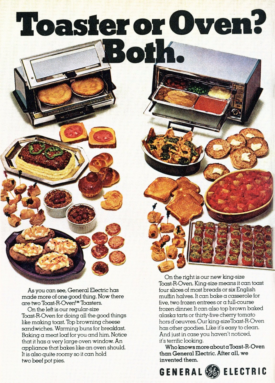 Vintage seventies toaster oven from GE (1972)