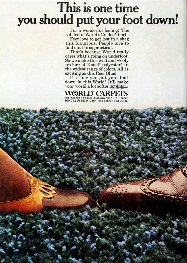 Vintage shag carpet from World Carpets 1970