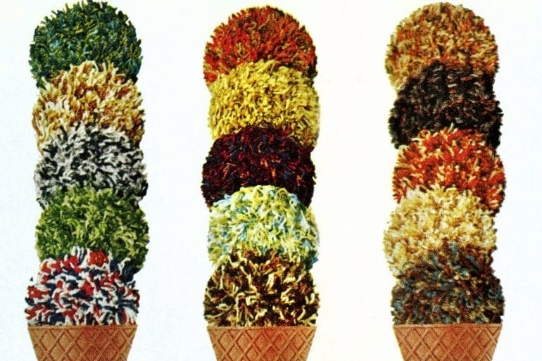 Vintage shag carpets from the 70s