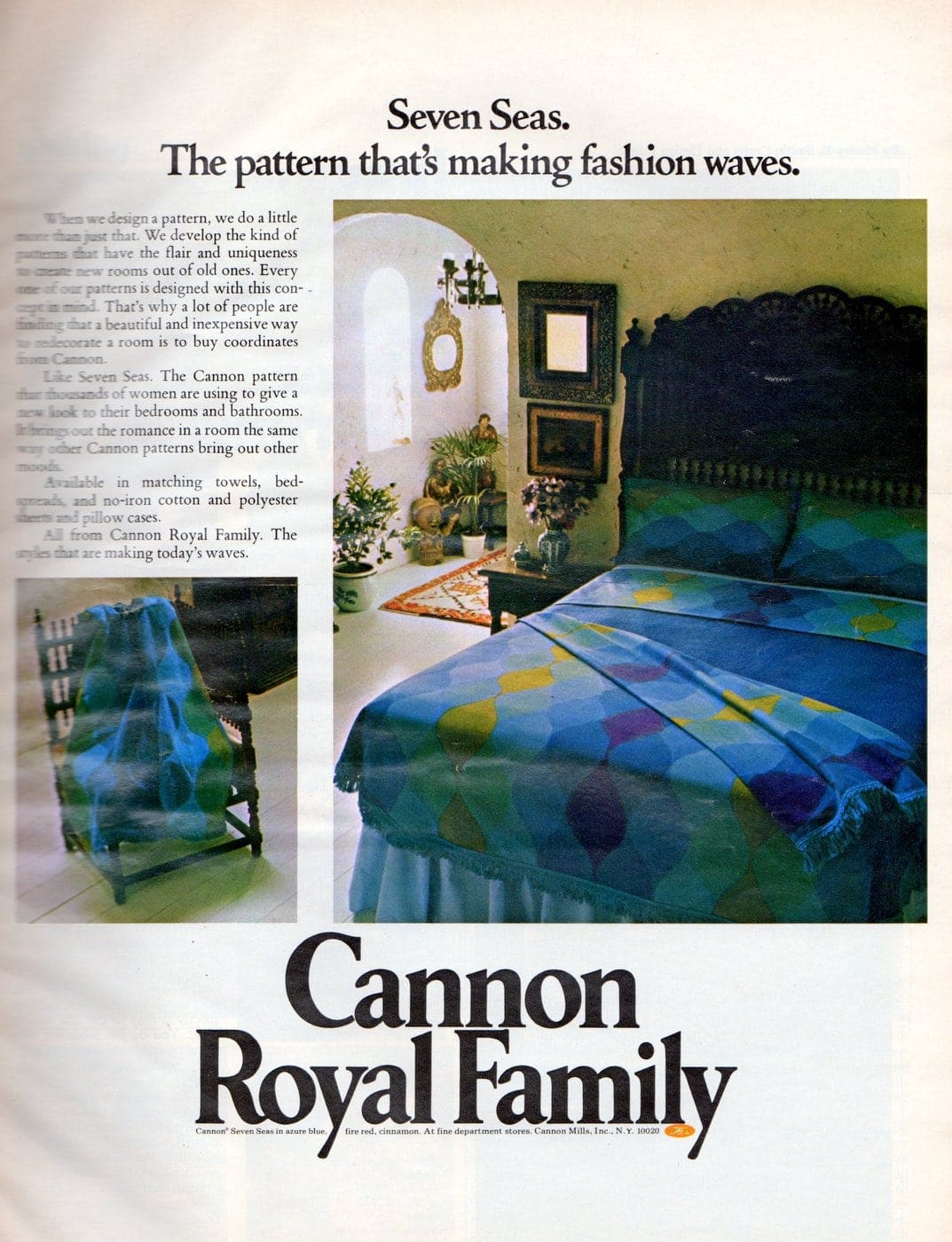 Vintage sheets - Cannon Seven Seas pattern from 1972