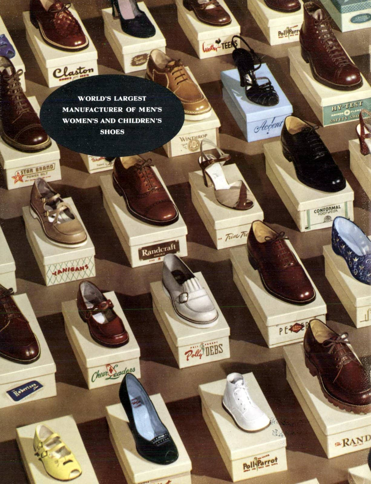 Vintage shoe brands and styles from 1951 (1)