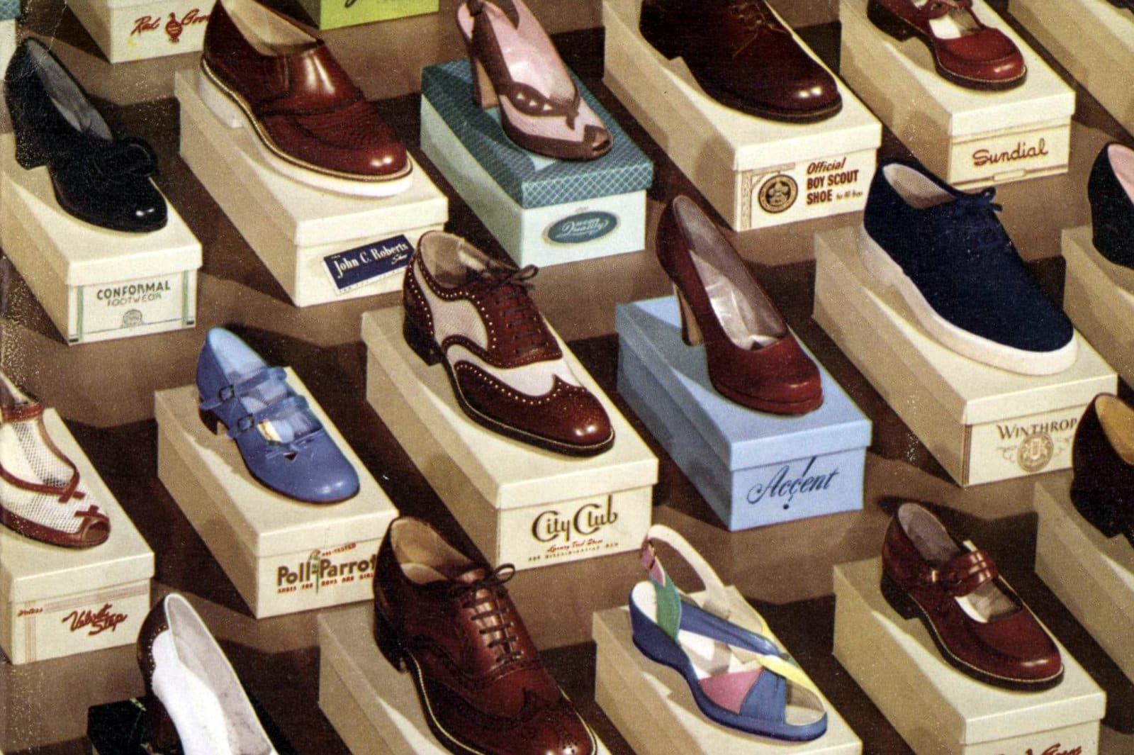 Vintage shoe brands and styles from 1951 (2)