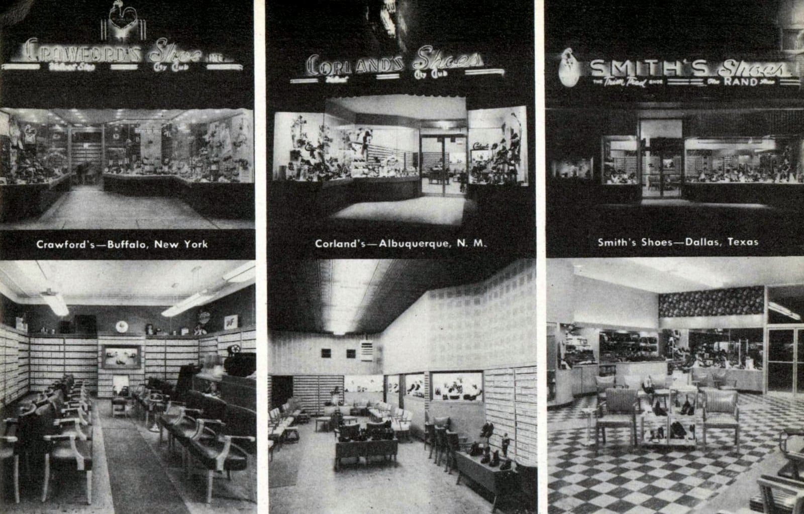 Vintage shoe store interiors from 1951 (1)