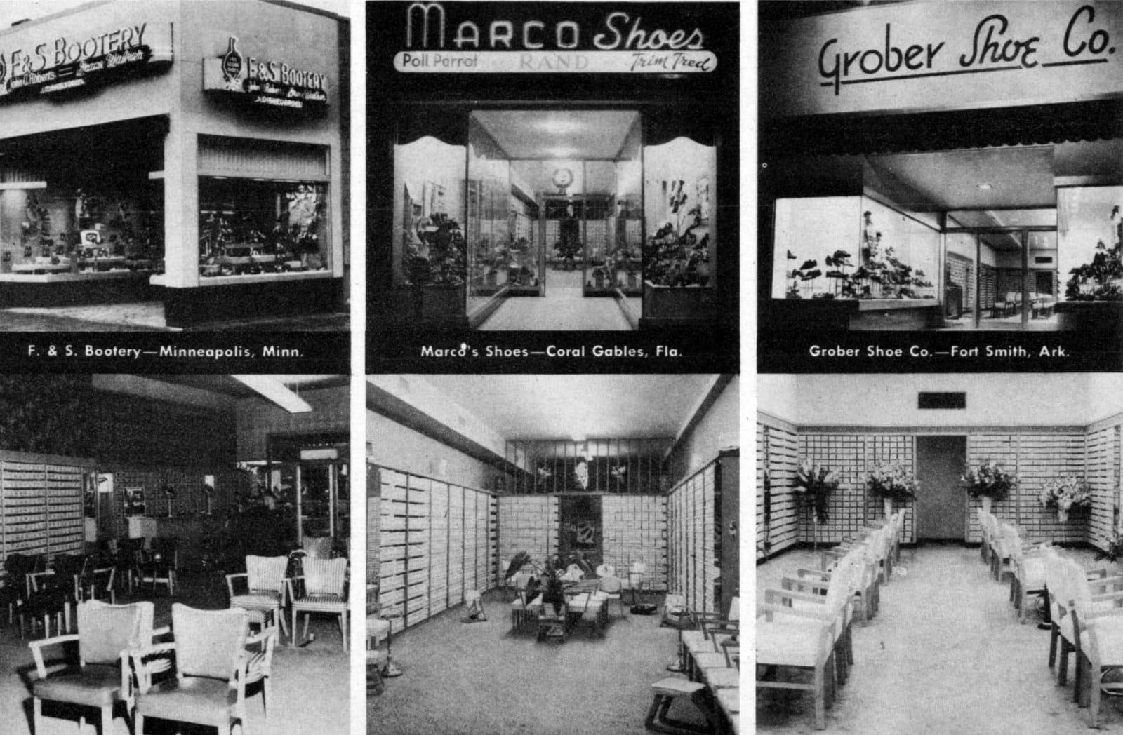 Vintage shoe store interiors from 1951 (2)