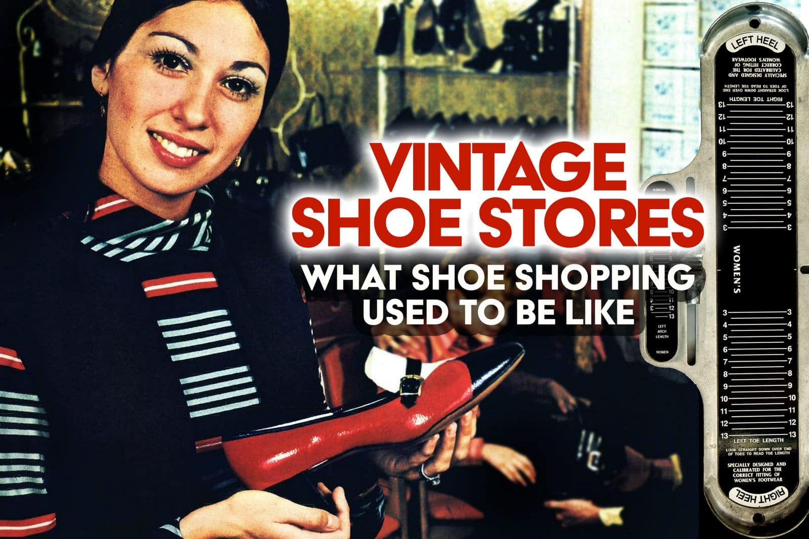 Vintage shoe stores - See what shoe shopping used to be like at Click Americana