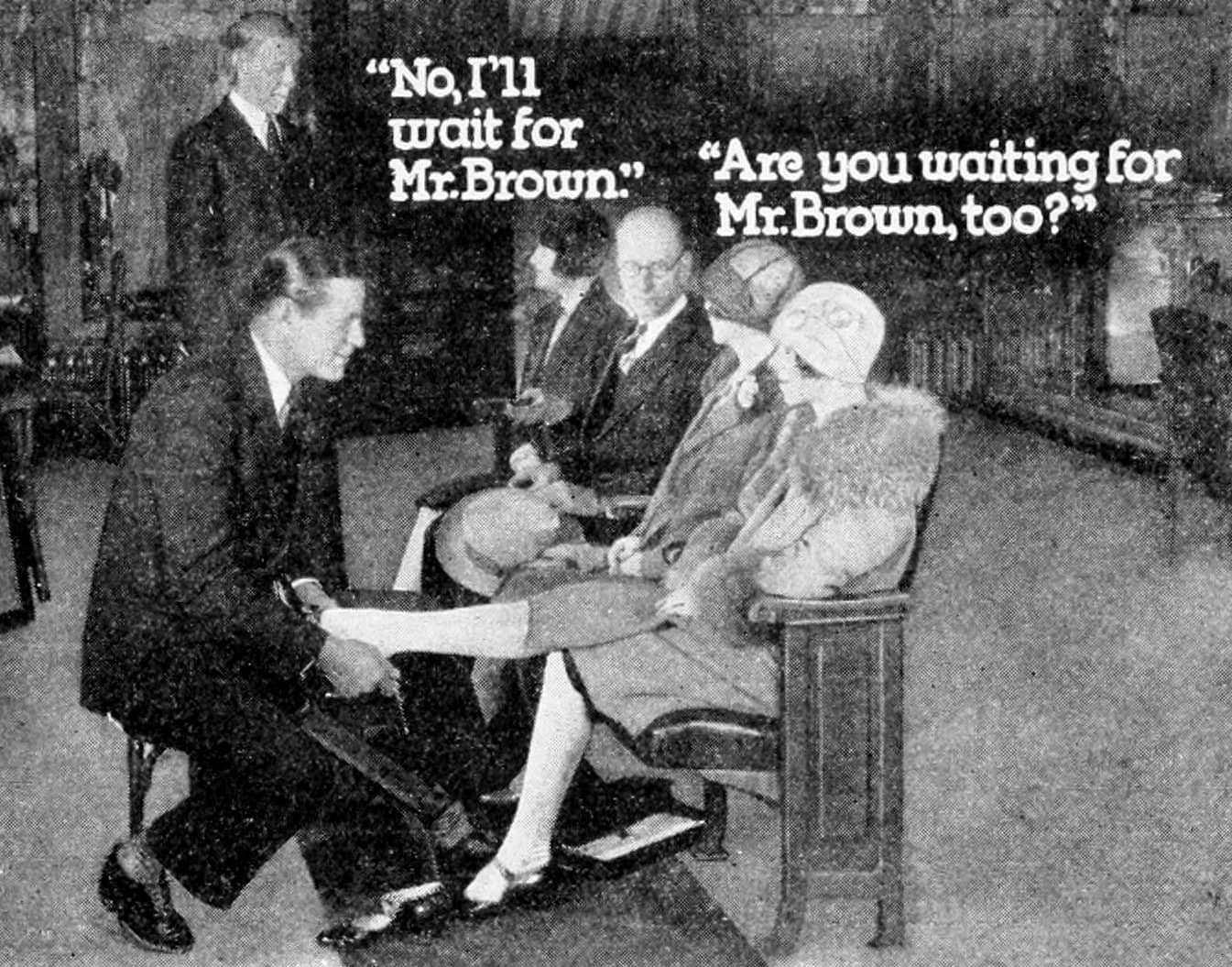Vintage shoe stores - Waiting for salesman (1929)