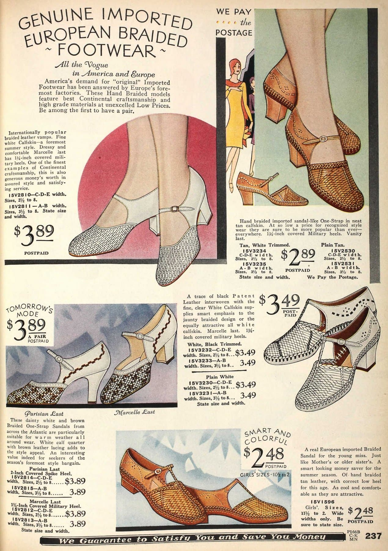Vintage shoes for women from 1930