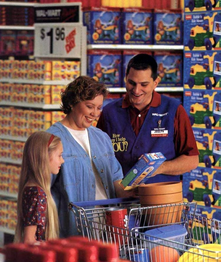 Vintage shoppers at Wal-Mart in the 1990s (2)