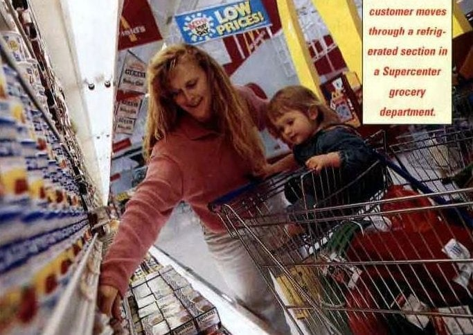 Vintage shoppers at Wal-Mart in the 1990s (3)