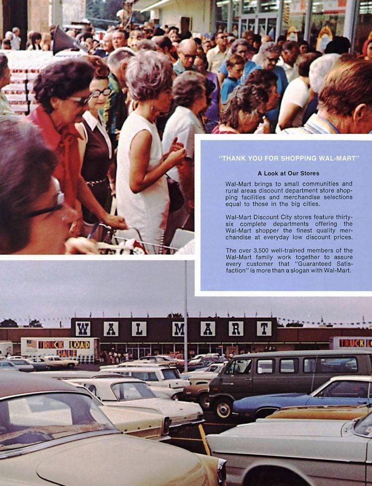 Vintage shopping at Wal-Mart in 1973