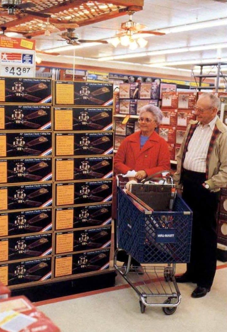 Vintage shopping at Wal-Mart in 1987
