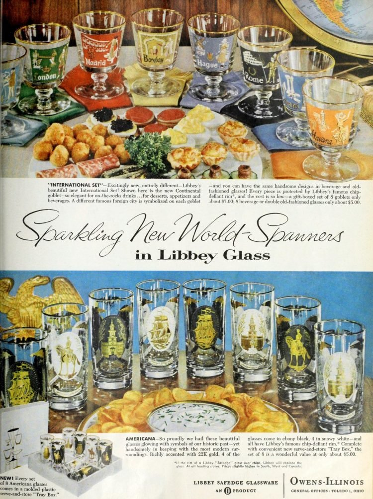 Vintage sixties Libbey Glasses from 1960 (2)