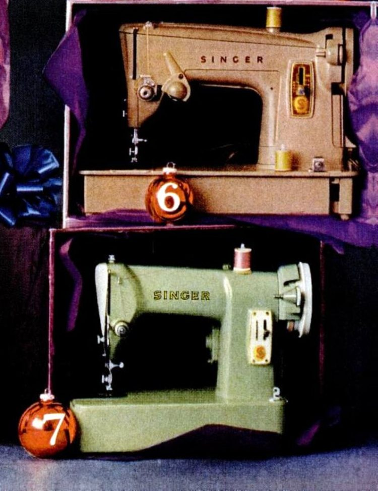 Vintage sixties sewing machines from 1961 (1)