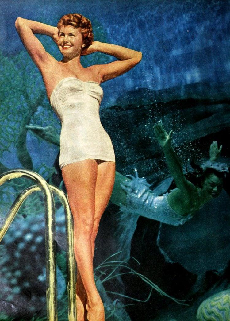Vintage slender actress singer Doris Day