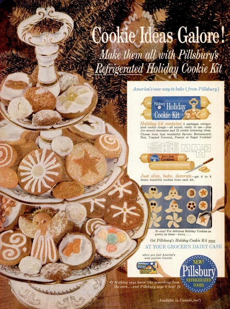 Vintage slice and cook cookies from 1960