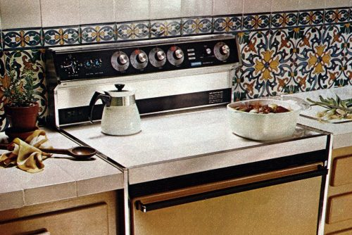 Vintage smooth surface stoves - flat range cooktops from the 70s