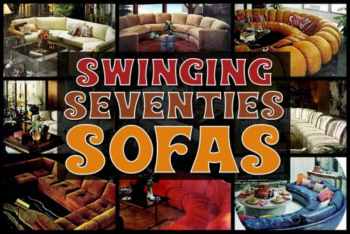 Vintage sofas from the swinging seventies