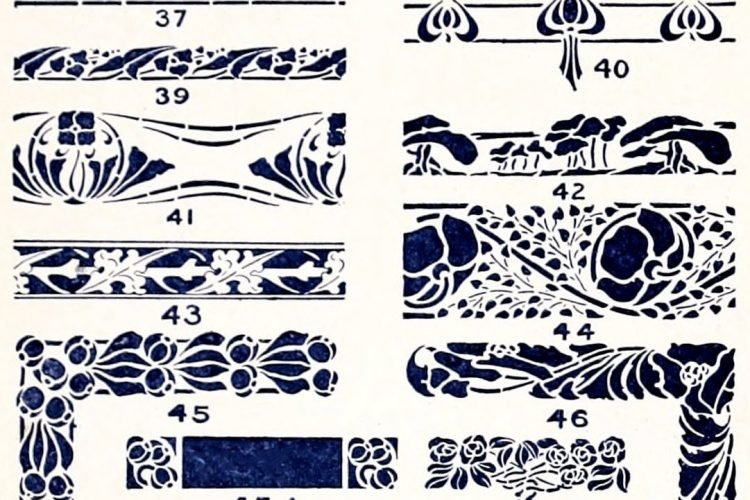 A classic collection of vintage stencil designs (1910