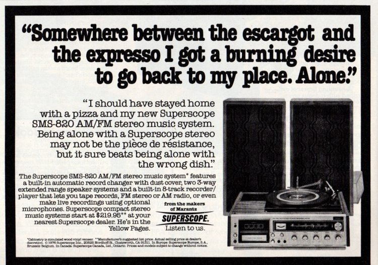 Vintage stereo system from 1976