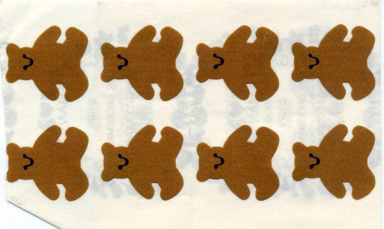 Vintage stickers - Little teddy bears