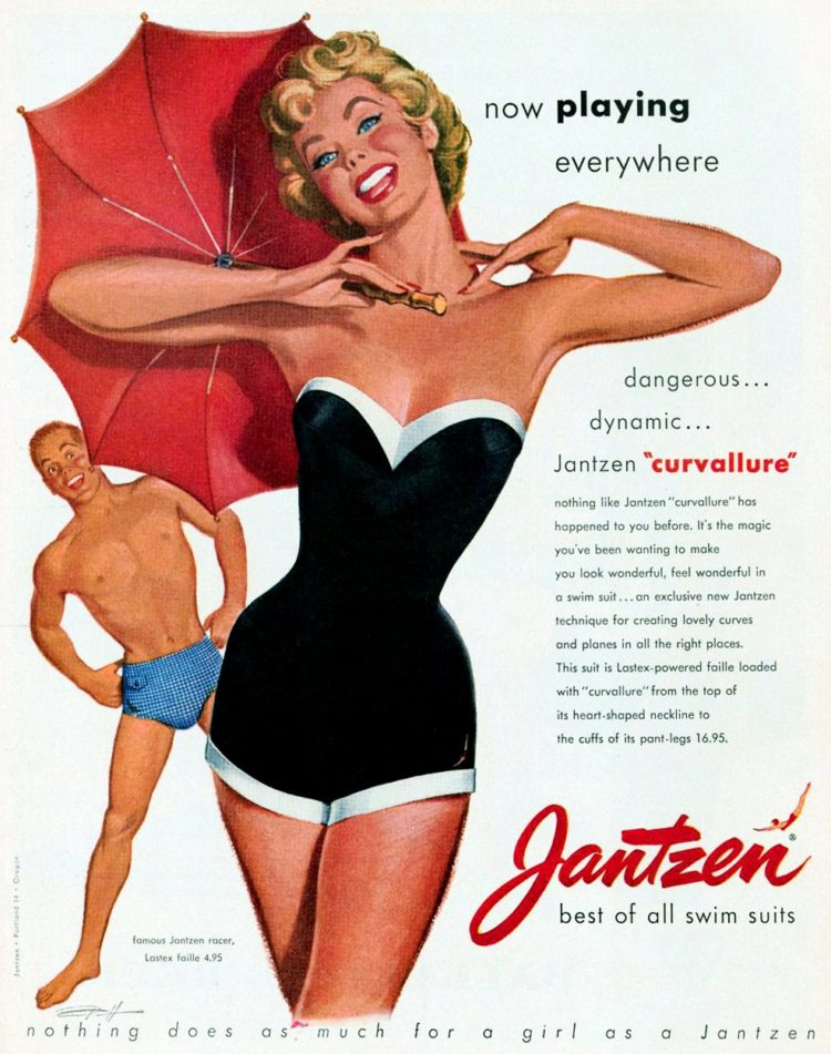 Vintage swimsuits for women from 1955