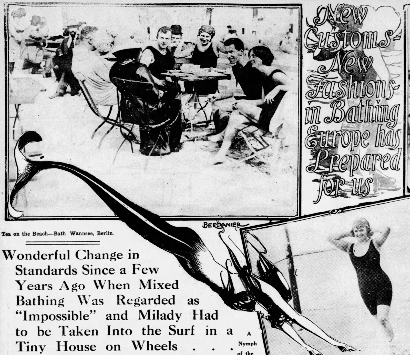 Vintage swimwear and modesty Mixed bathing comes to America (1913)