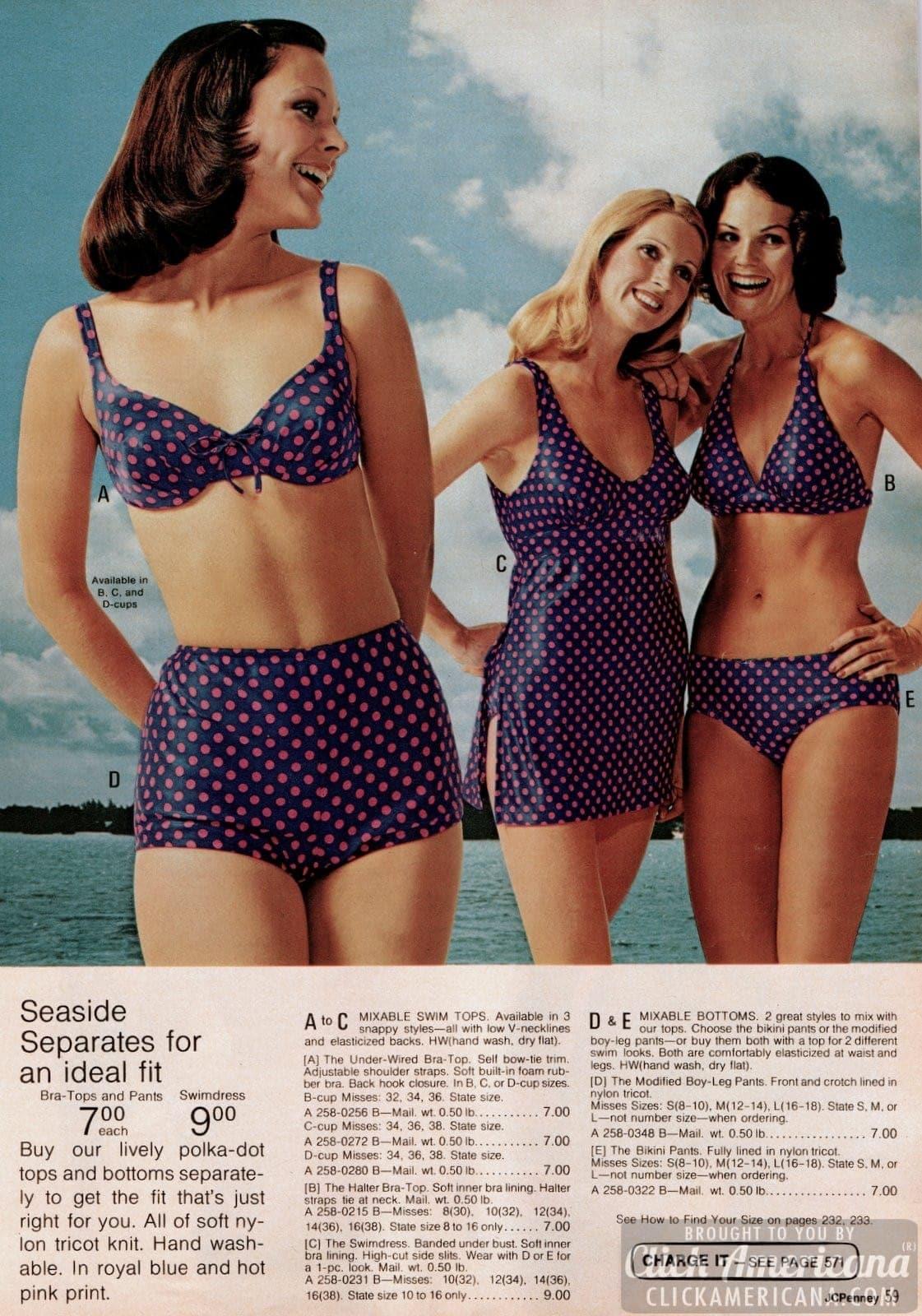 Vintage swimwear for women from 1973 (1)