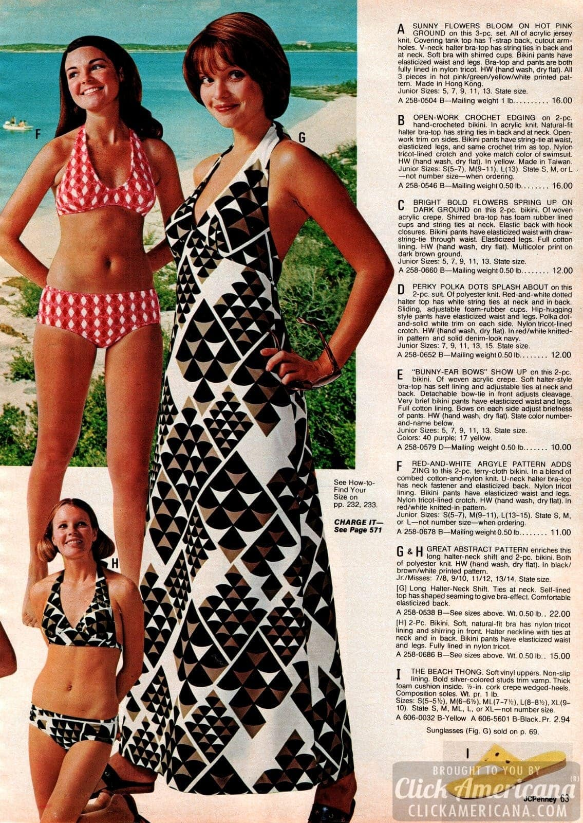 Vintage swimwear for women from 1973 (2)