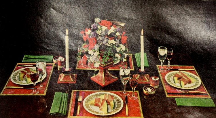 Vintage table decor from 1965 (3)