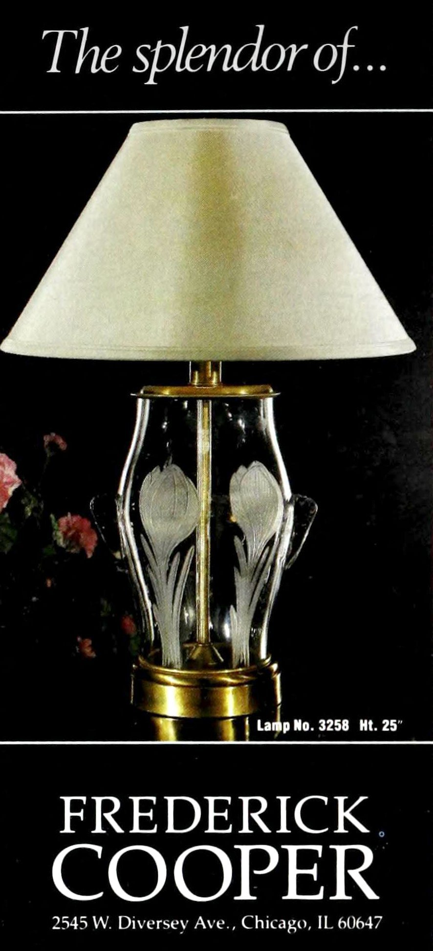 Vintage table lamp by Frederick Cooper of Chicago - 1988 (1)