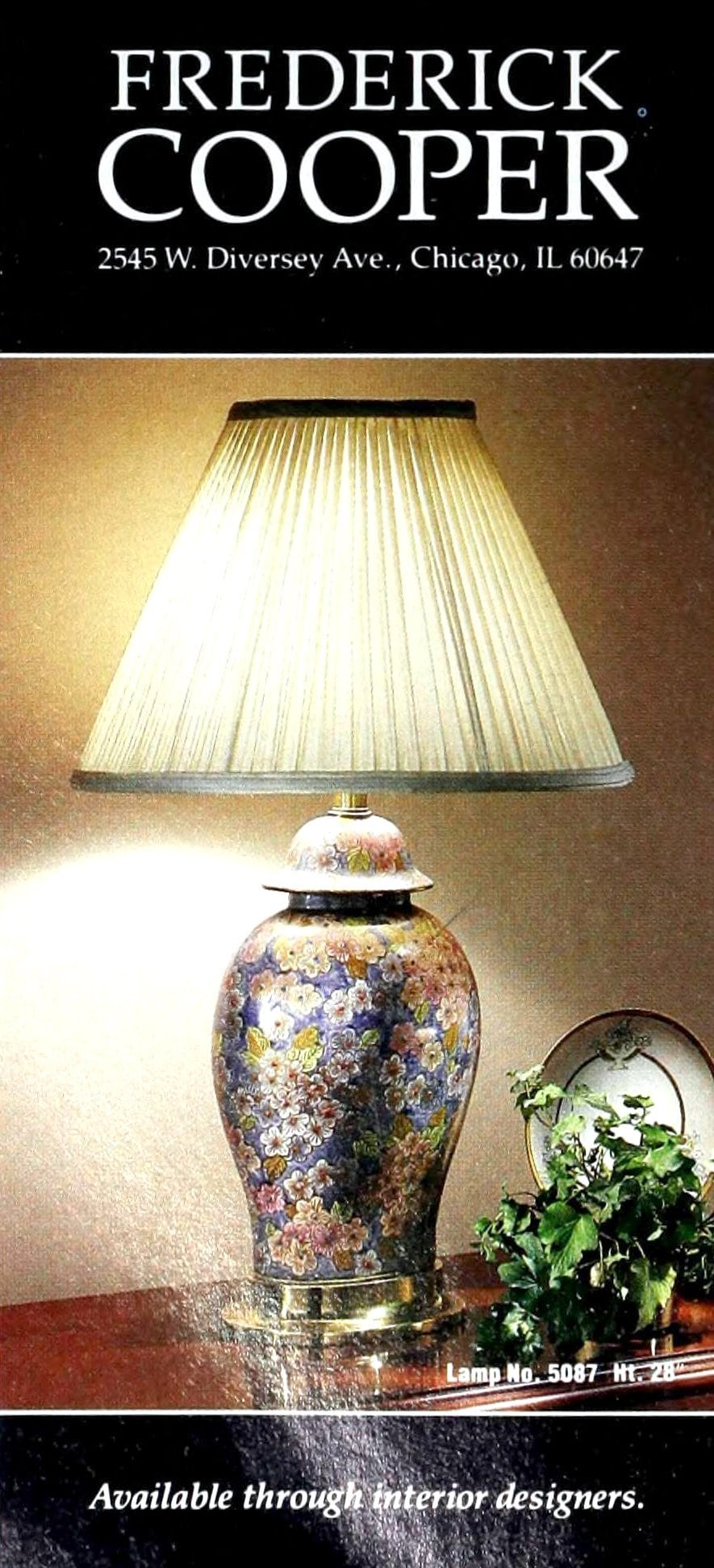 Vintage table lamp by Frederick Cooper of Chicago - 1988 (2)