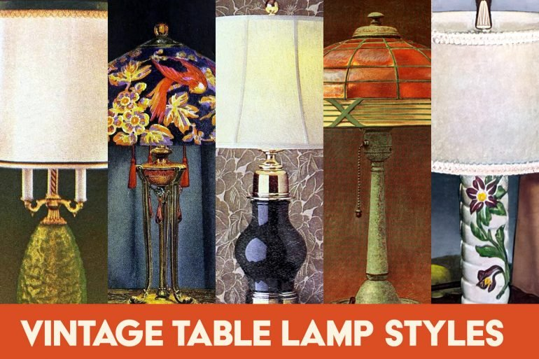 Vintage table lamp styles from the 20th century at Click Americana