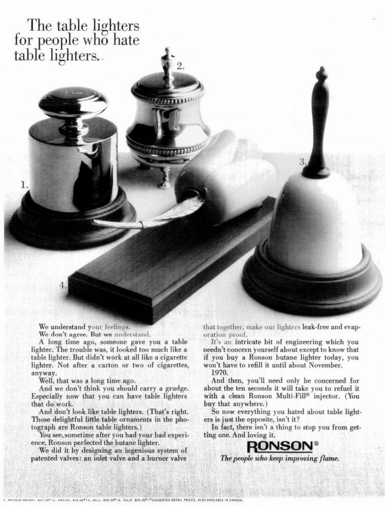 Vintage table lighters - Ronson 1967