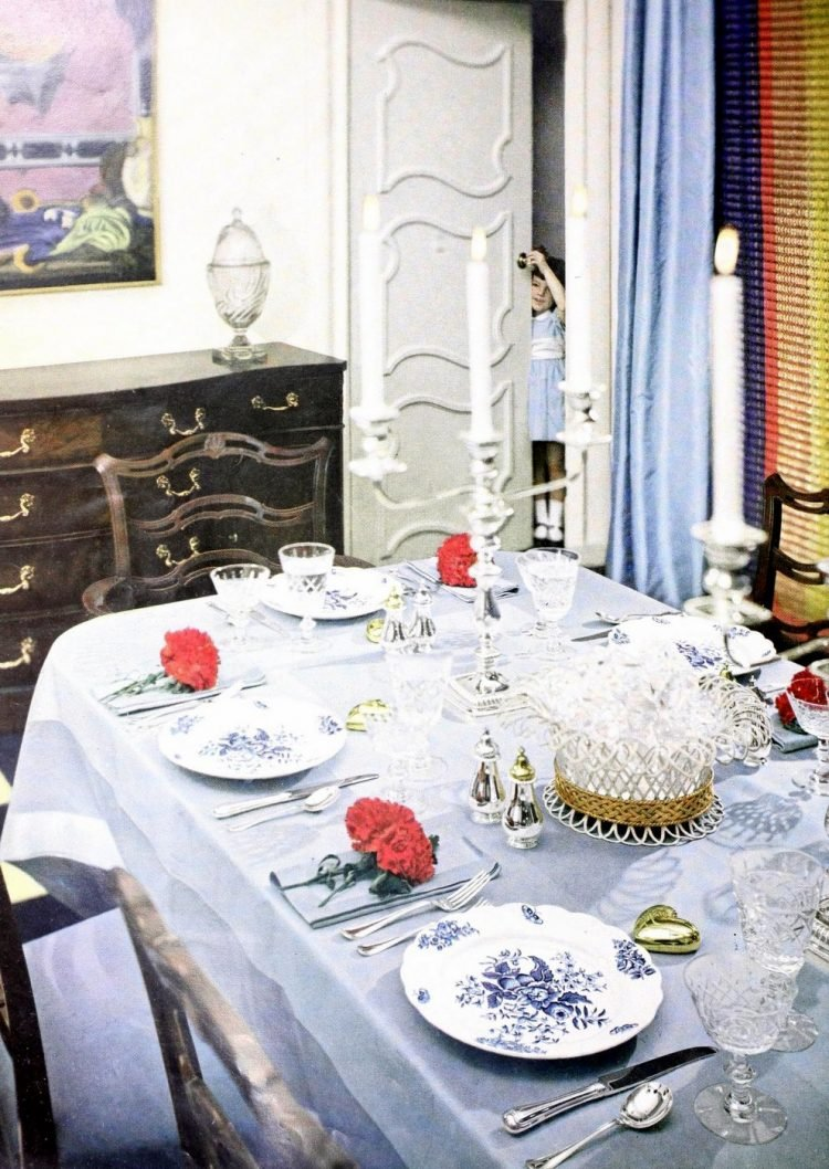 Vintage table setting ideas from the 50s (1)