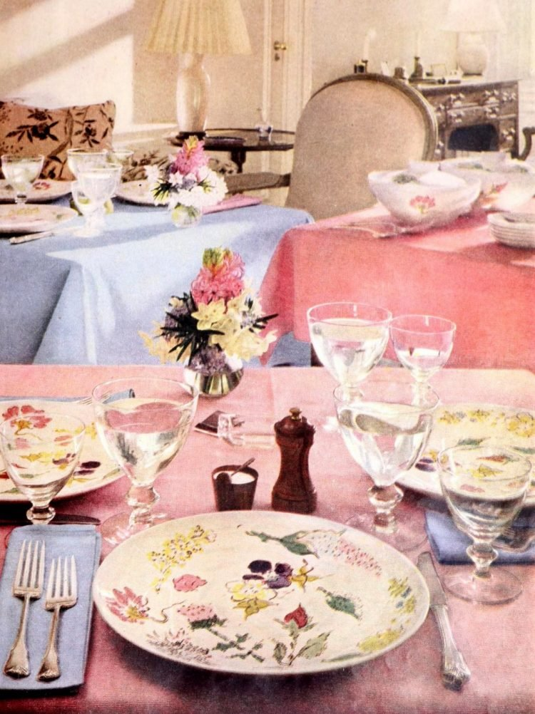 Vintage table setting ideas from the 50s (2)
