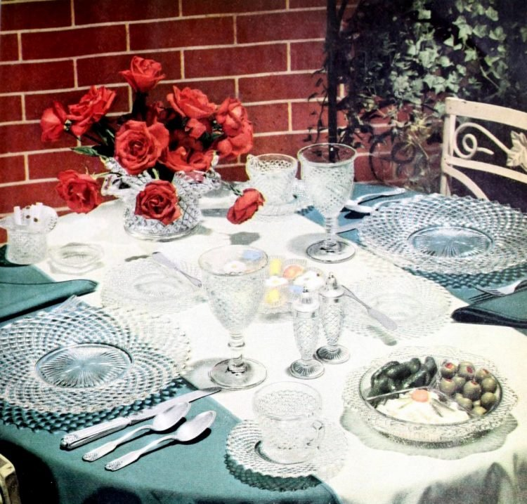 Vintage table setting ideas from the 50s (3)