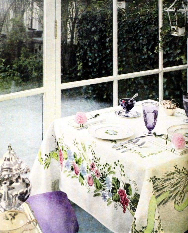 Vintage table setting ideas from the 50s (5)