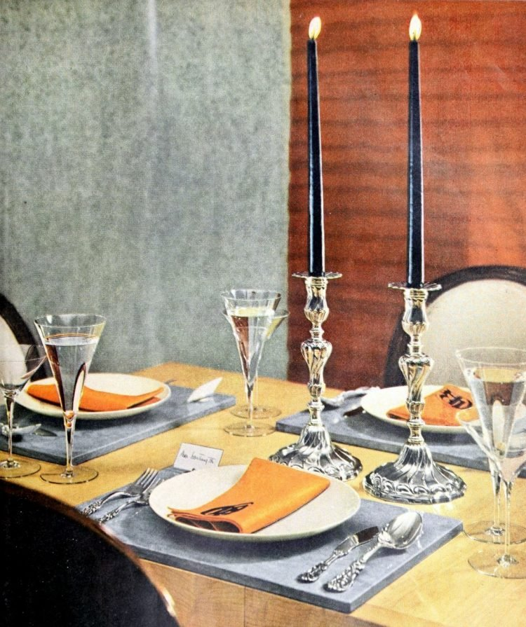 Vintage table setting ideas from the 50s (8)