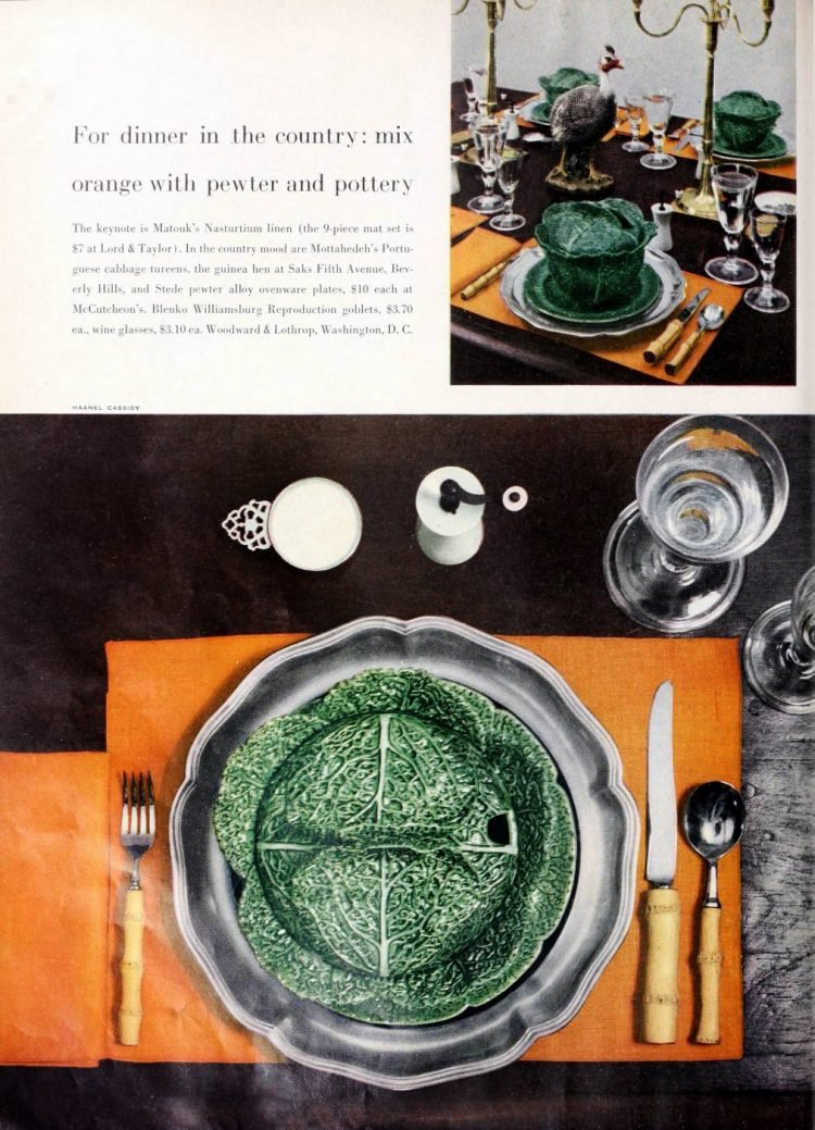 Vintage table setting ideas from the 50s (9)