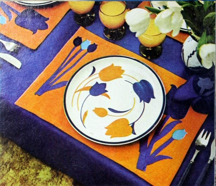 Vintage table setting ideas from the 70s - 1975 (10)