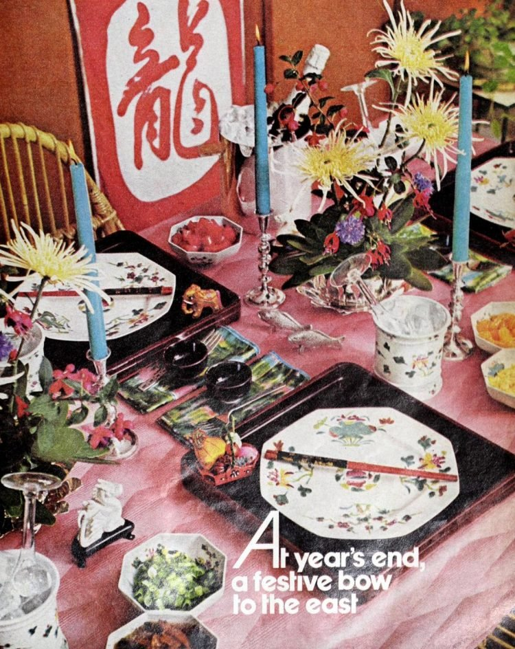 Vintage table setting ideas from the 70s - 1975 (12)