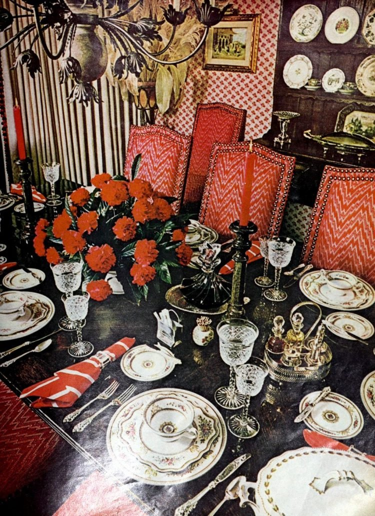Vintage table setting ideas from the 70s - 1975 (14)