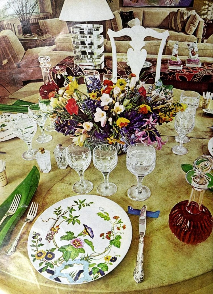 Vintage table setting ideas from the 70s - 1975 (15)
