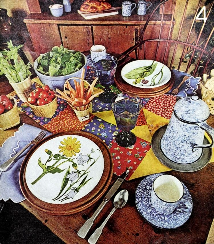 Vintage table setting ideas from the 70s - 1975 (17)