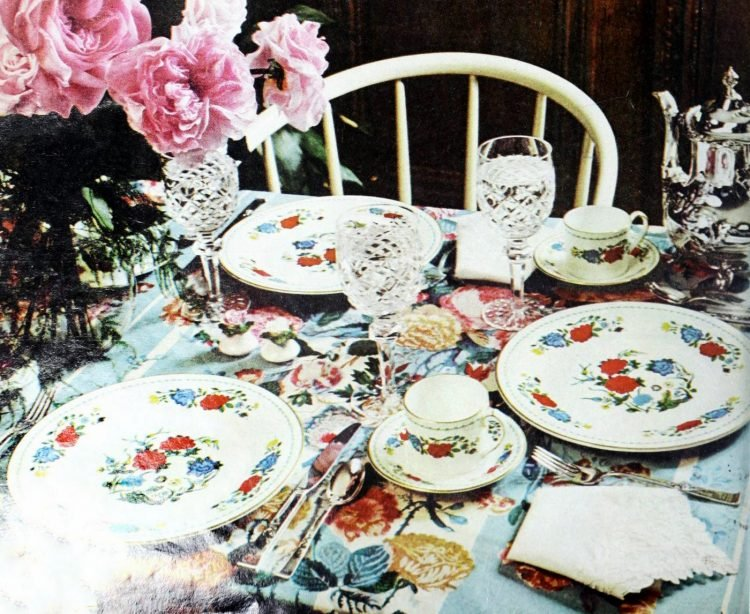 Vintage table setting ideas from the 70s - 1975 (2)