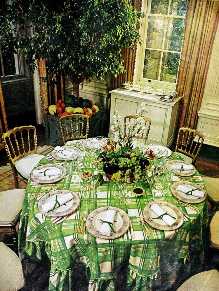 Vintage table setting ideas from the 70s - 1975 (20)